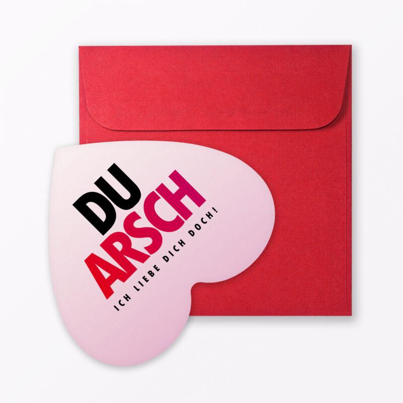 Postkarte Quot Arschkarte Checklist Quot In Herzform Inkl Umschlag