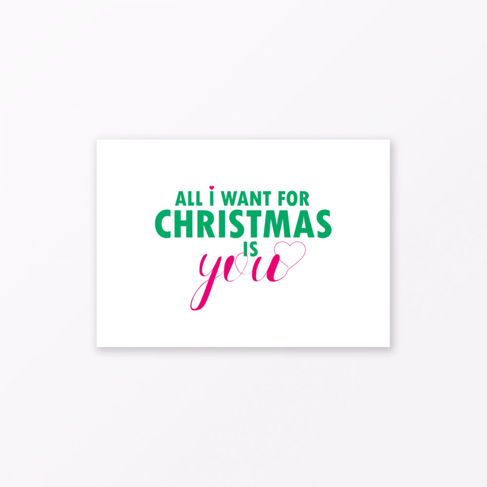 Postkarte Quot All I Want For Christmas Is You Quot Din