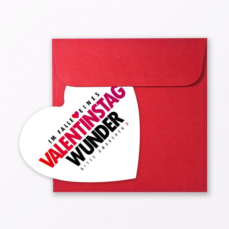 Valentinstagskarte Quot Wunder Von Valentinstag Quot Inkl Umschlag Amp Kondom