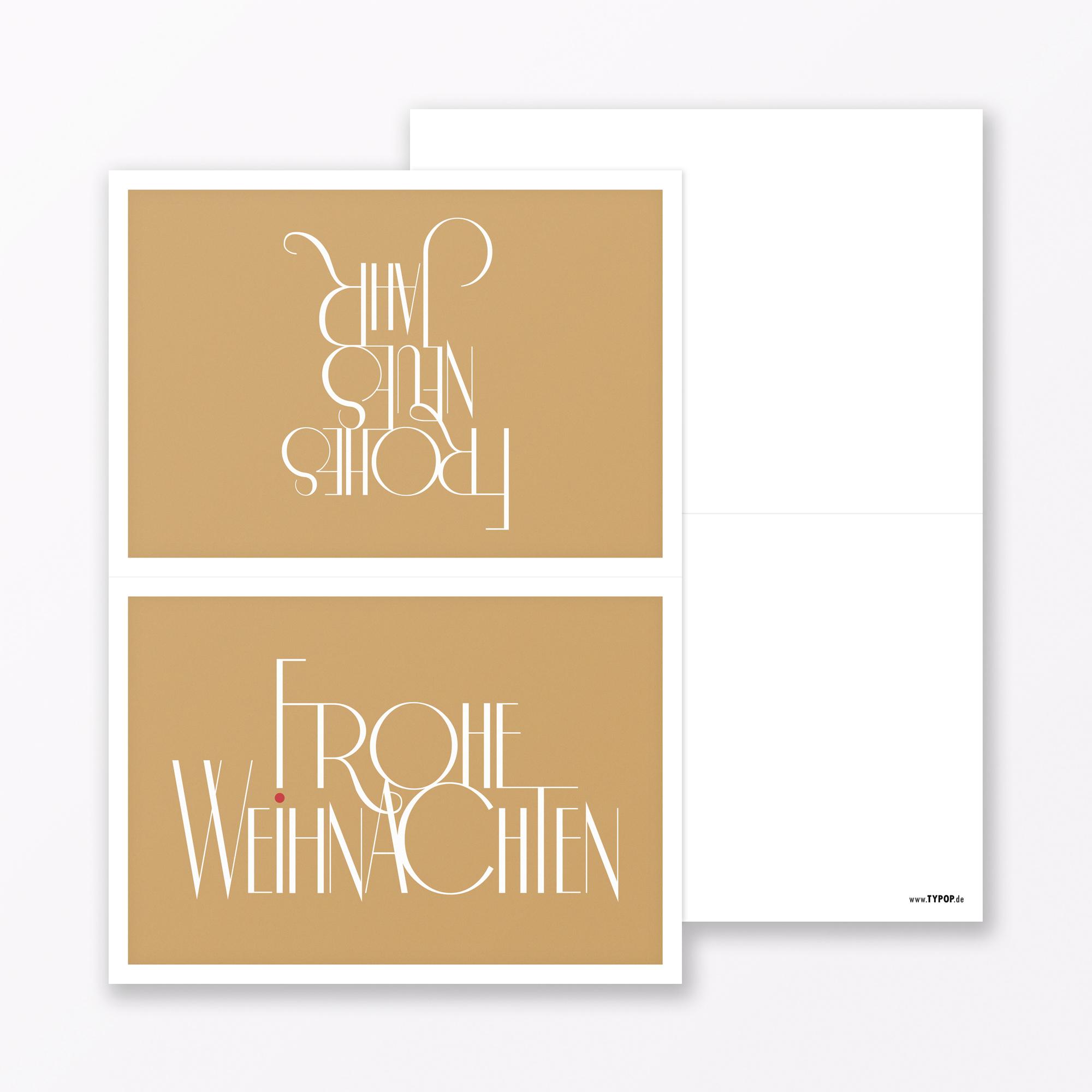 Frohe Weihnachten Gold.2 Teiliges Set Design Weihnachtskarte Fröhliche Weihnachten Gold Klappkarte A6 Inkl Umschlag