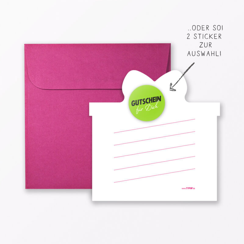 Geburtstagskarte Quot H Ppi B Rsd J Quot Pink In Geschenkform Inkl Umschlag Sticker