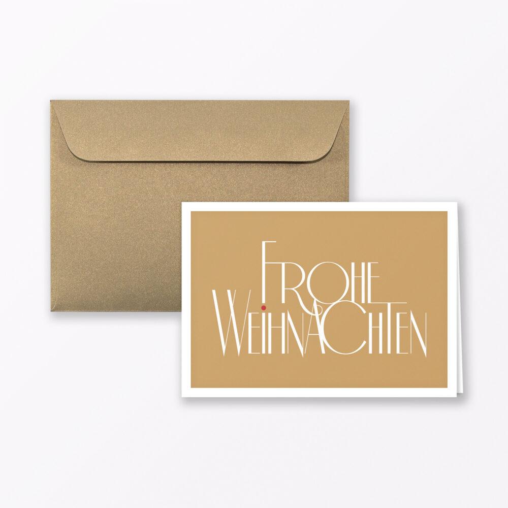 Weihnachtskarte Mood Quot Fr Hliche Weihnachten Quot Gold Klappkarte A Inkl Umschlag