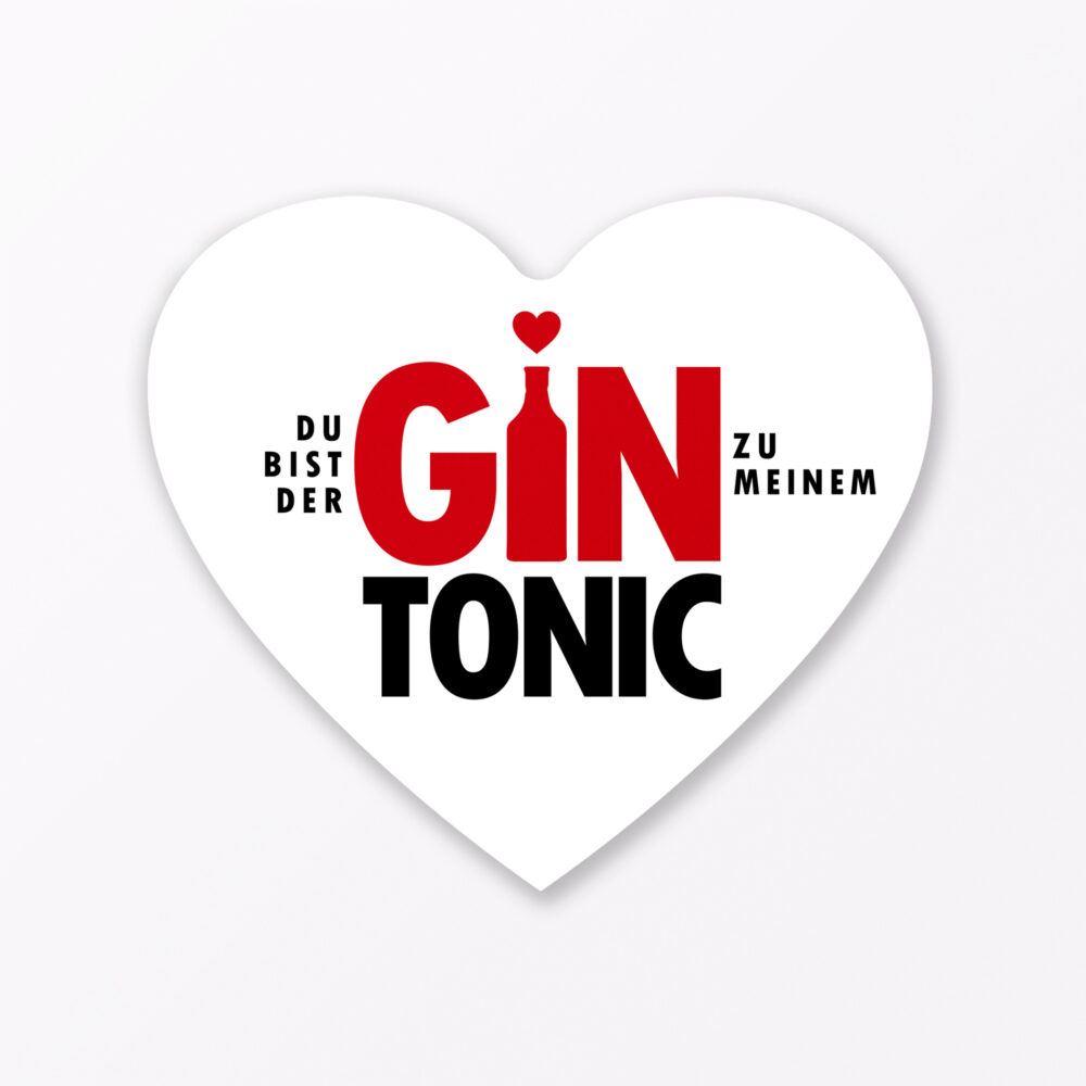 Set Quot Gin Tonic Quot Postkarte In Herzform Inkl Umschlag Little Breaks Gin