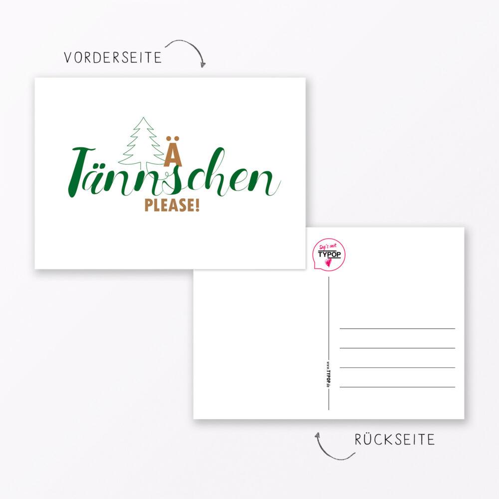 Postkarte Quot T Nnschen Please Quot Din A