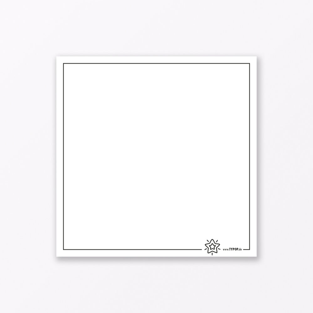 Postkarte Quot Zimtstern Quot Pink Quadratisch Inkl Umschlag