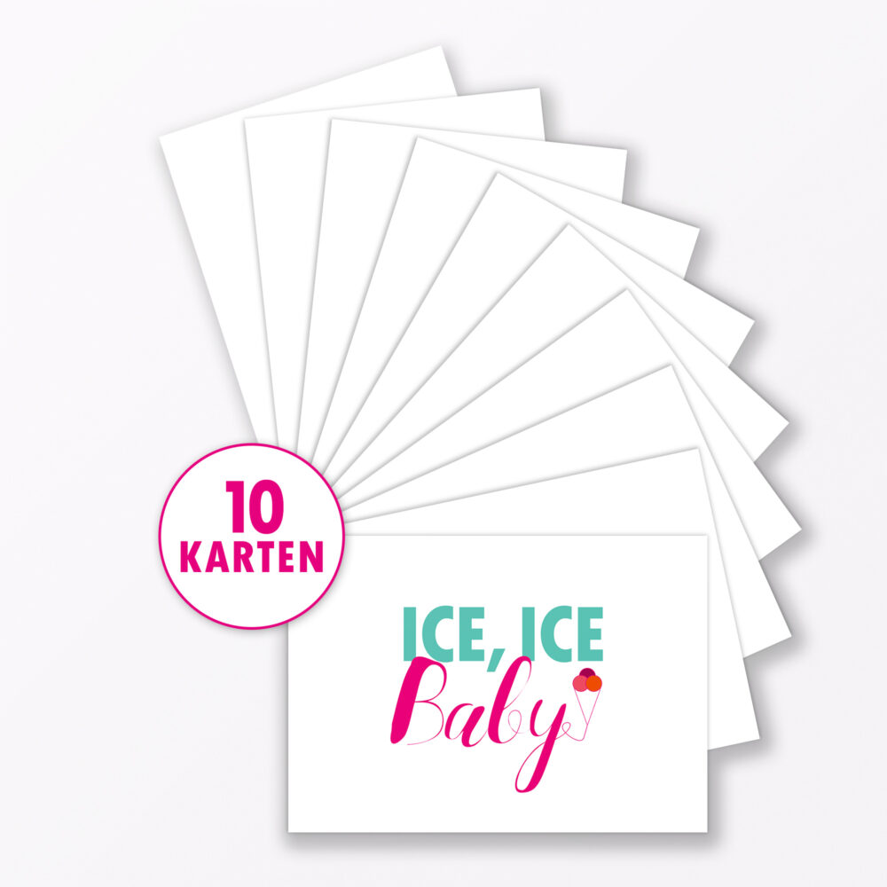 Postkarte Quot Ice Ice Baby Quot Din A