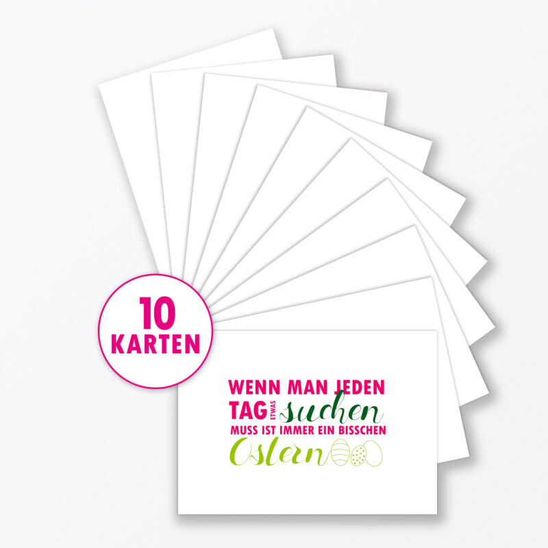 Postkarte Quot Jeden Tag Ostern Quot Din A