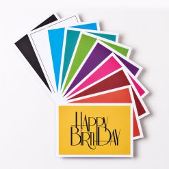 """10er-Set Design GEBURTSTAGSKARTE """"Happy Birthday"""" DIN A6"""