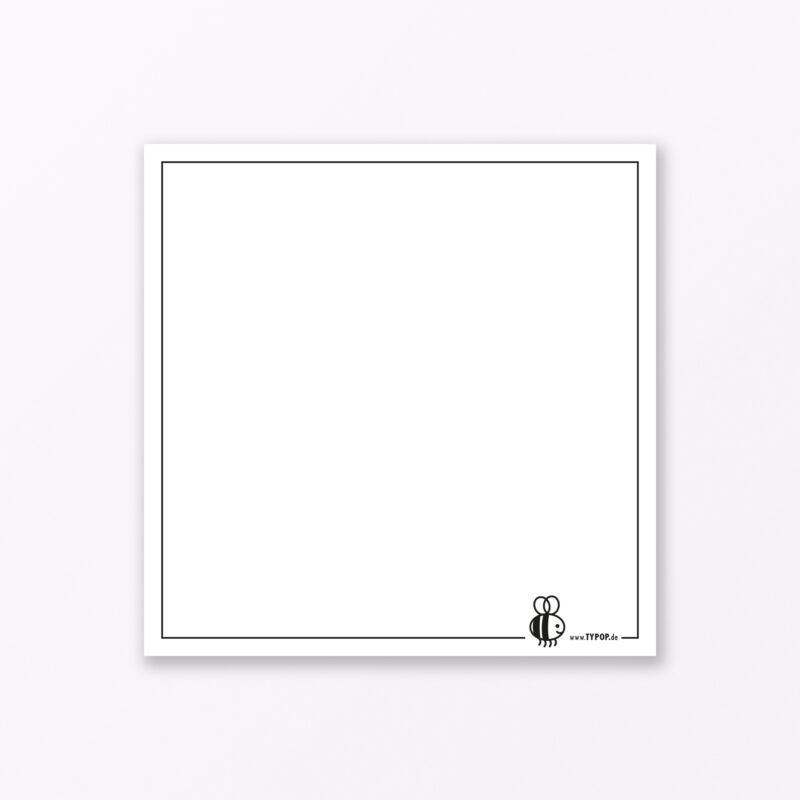 Postkarte Quot Zuckerbiene Quot Gelb Quadratisch Inkl Umschlag Armband