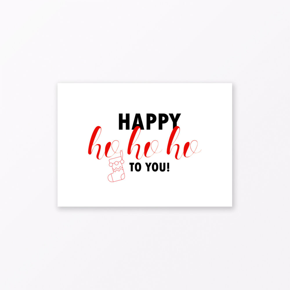 Postkarte Quot Happy Ho Ho Ho Quot Din A