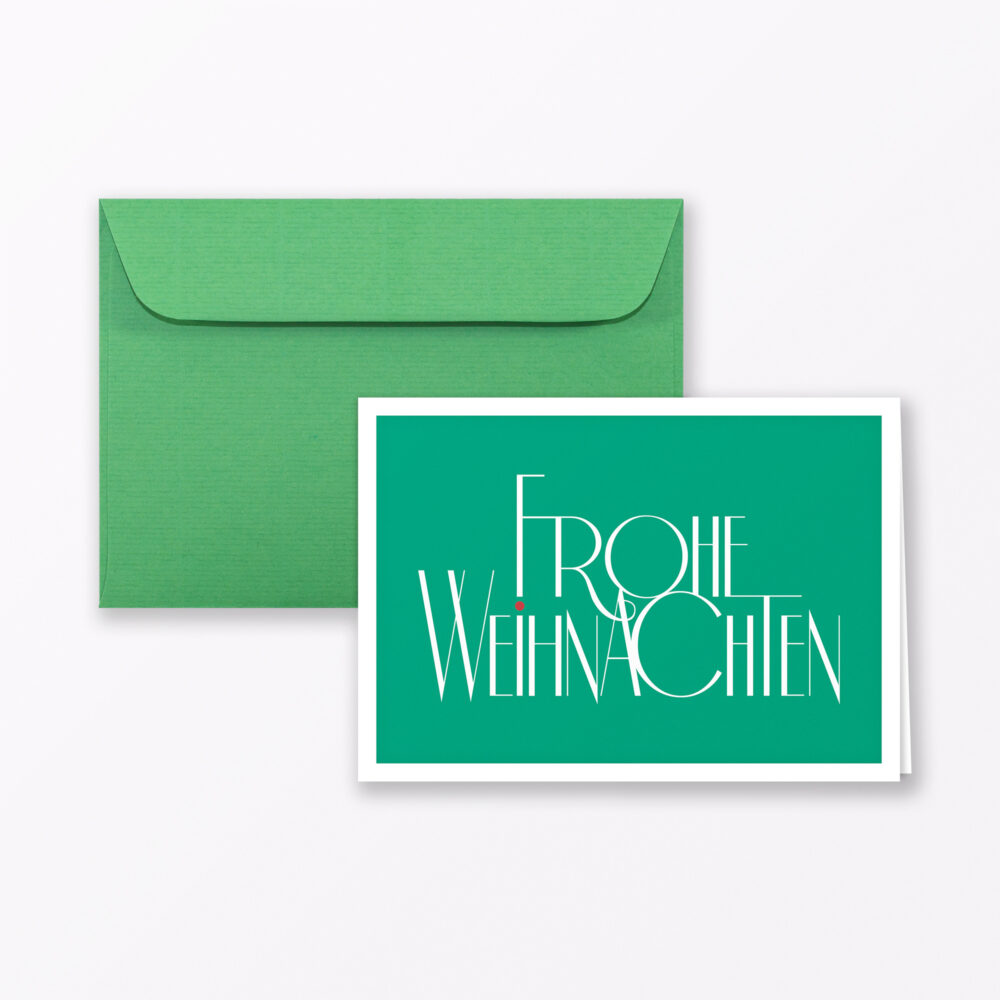 Weihnachtskarte Mood Quot Fr Hliche Weihnachten Quot Gr N Klappkarte A Inkl Umschlag