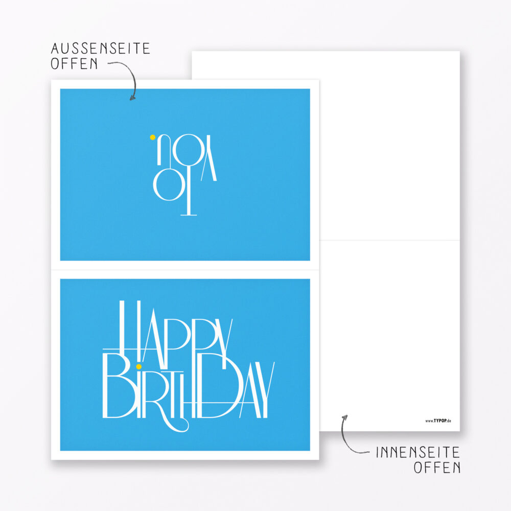 Teiliges Set Geburtstagskarte Quot Happy Birthday Quot Klappkarten Din A Inkl Umschl Ge Weiss