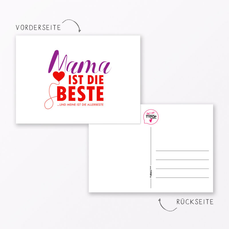 Postkarte Quot Mama Ist Die Beste Quot Din A