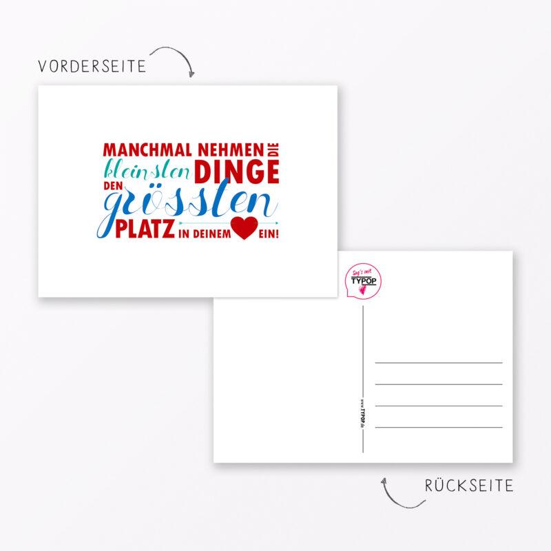 Postkarte Quot Kleine Dinge Quot Din A