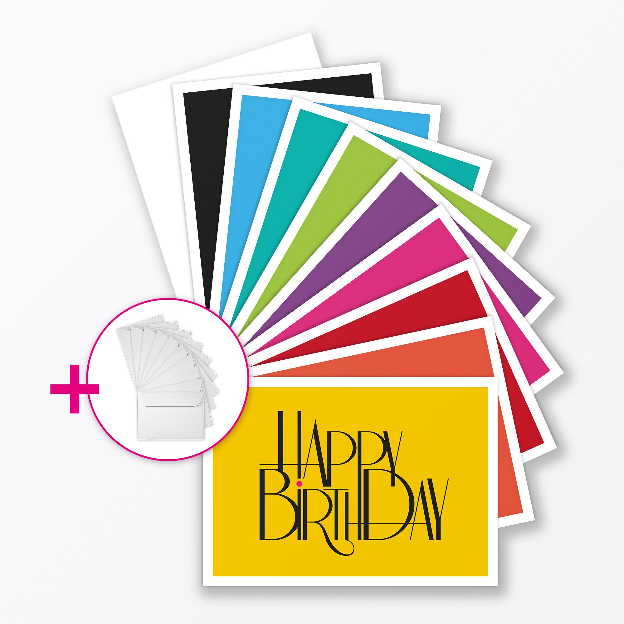 B Typop Happybirthday Klappkarte Set