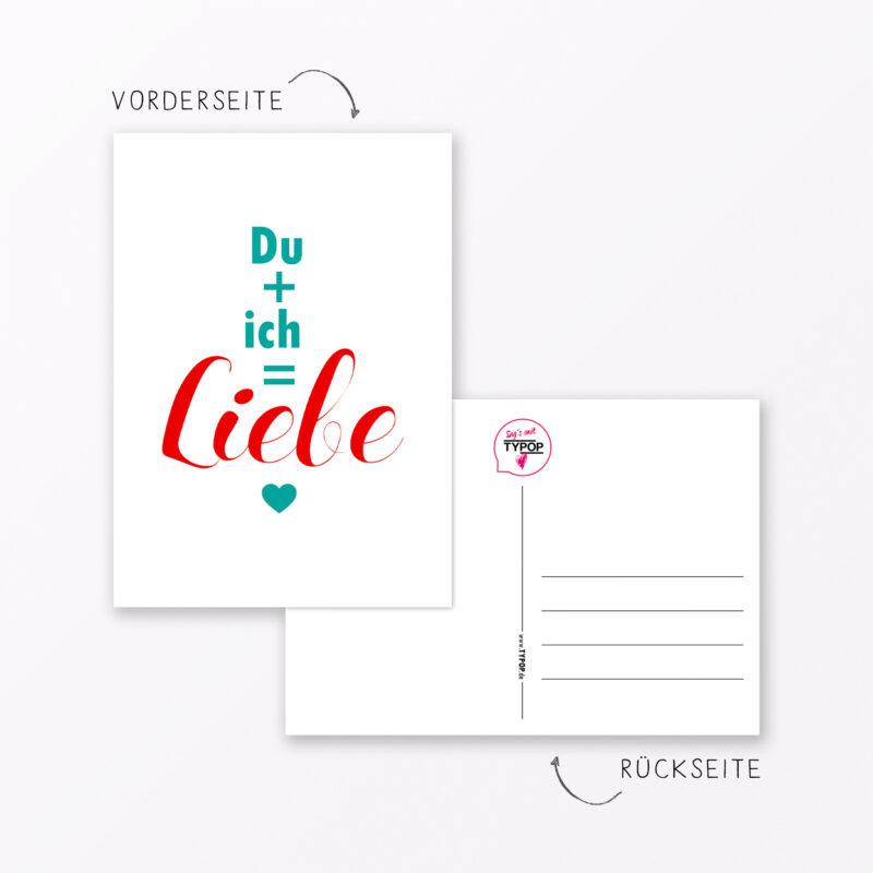 Postkarte Quot Du Ich Quot Din A