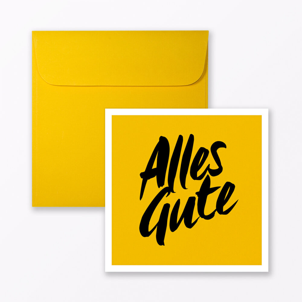Gl Ckwunschkarte Quot Alles Gute Quot Quadratisch Inkl Umschlag