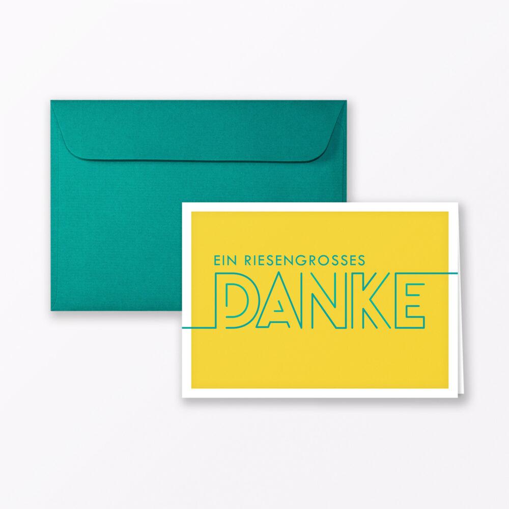 Dankeskarte Quot Dankesch N Quot Gelb Klappkarte A Inkl Umschlag