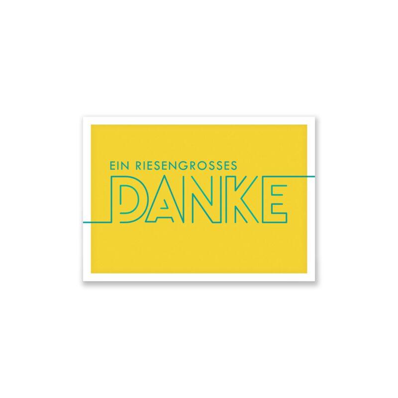 Teiliges Set Dankeskarte Quot Dankesch N Quot Gelb Klappkarte A Inkl Umschl Ge Weiss