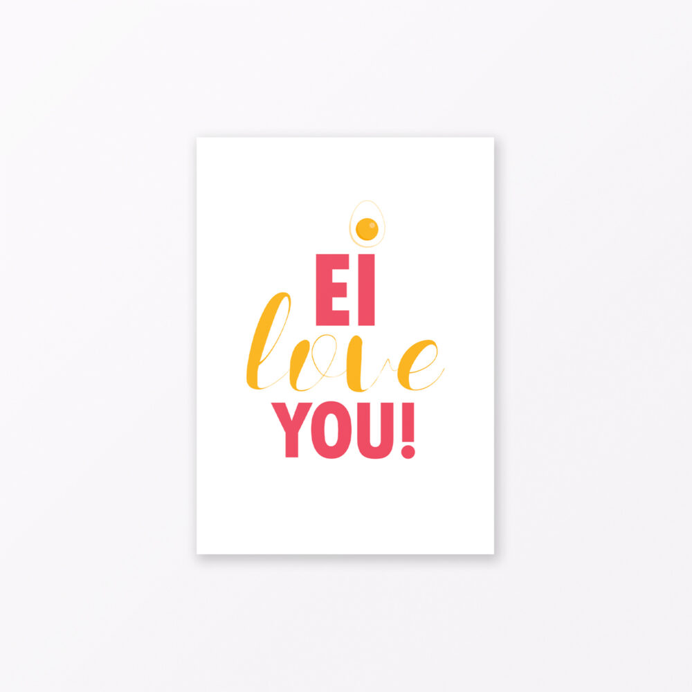 Postkarte Quot Ei Love You Quot Din A