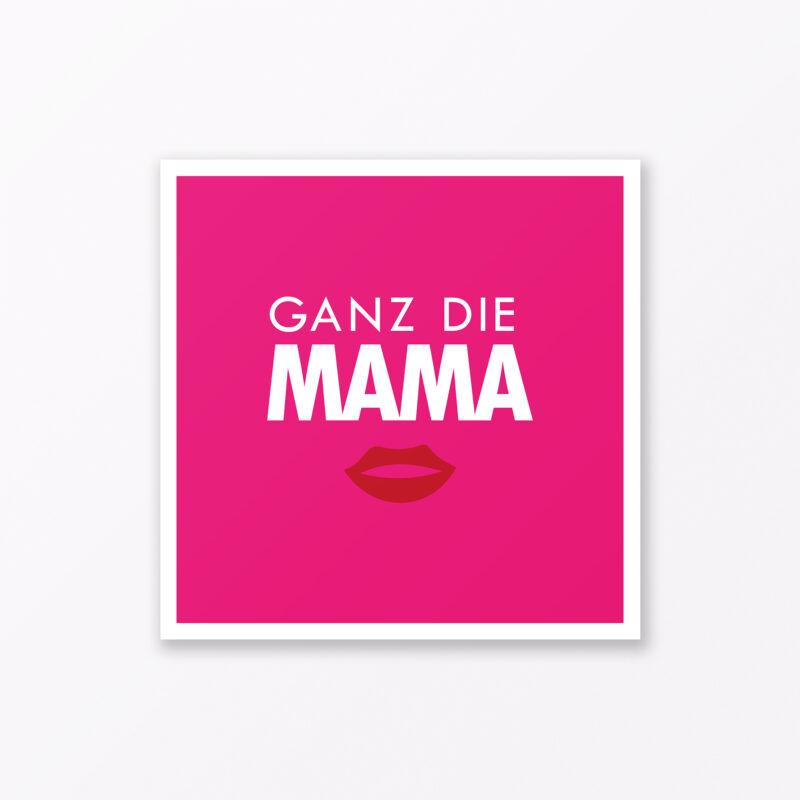 Babykarte Quot Ganz Die Mama Quot In Pink Quadratisch Inkl Umschlag