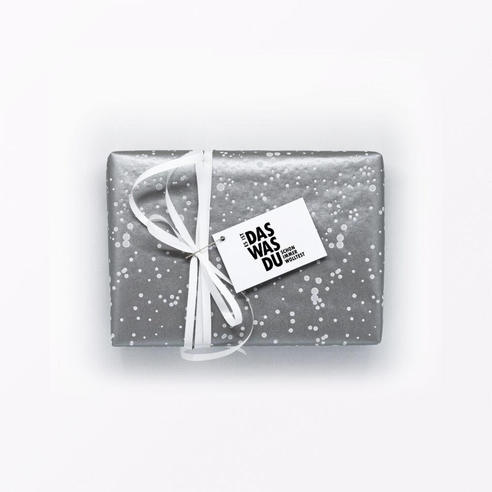 Geschenkanhänger Was du schon immer wolltest am Päckchen