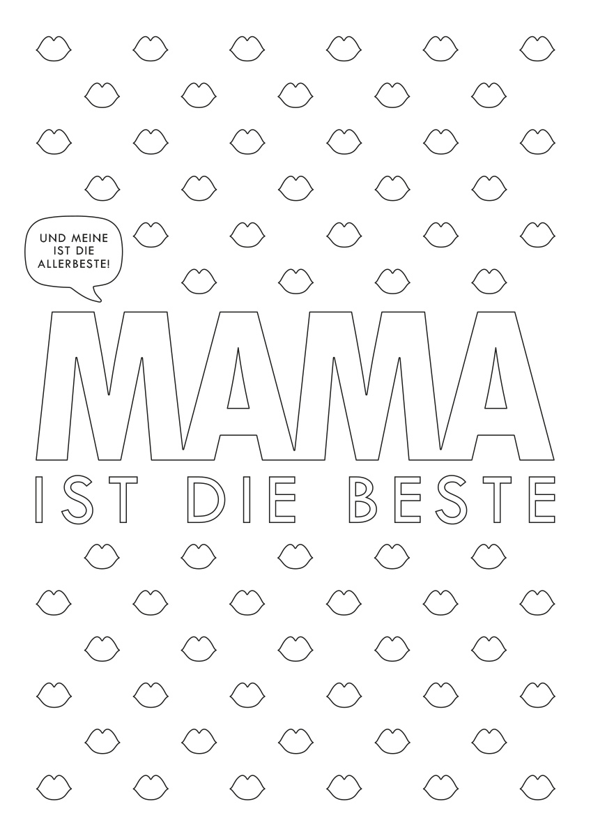 Printable Mama Hoch