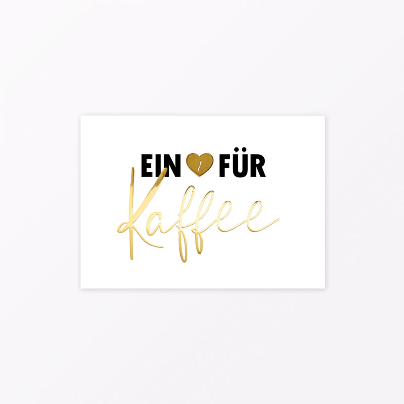 Postkarte ein Herz für Kaffee