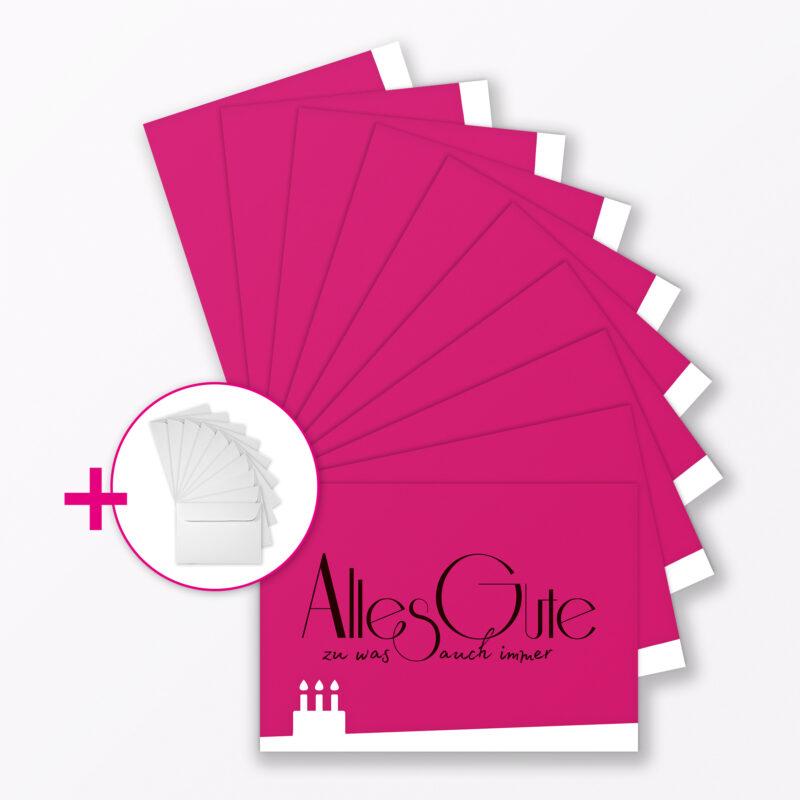 Teiliges Set Gl Ckwunschkarte Quot Alles Gute Quot Quadratisch Ohne Umschlag