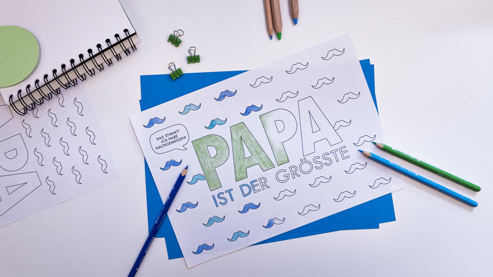 Printable Papa Titel