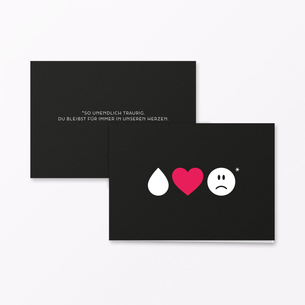 Trauerkarte Emojis