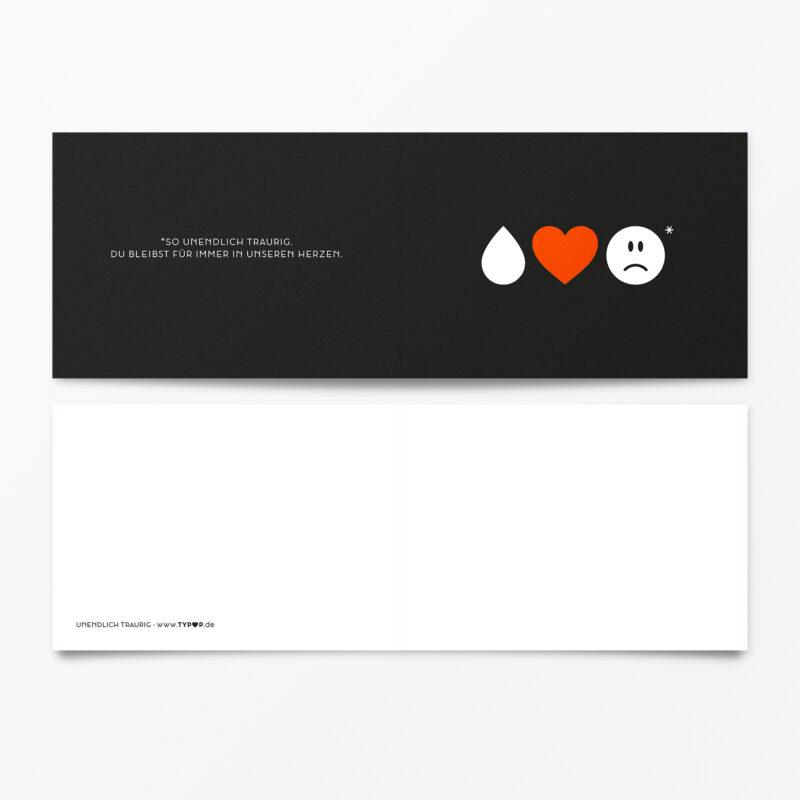Trauerkarte Emojis Orange
