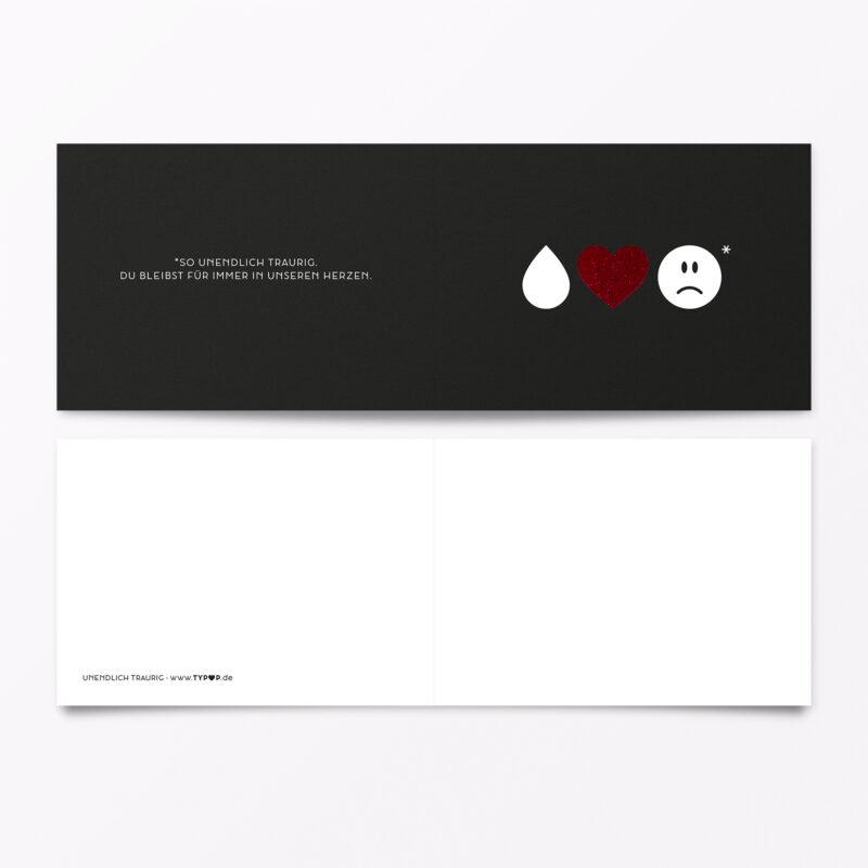 Trauerkarte Emojis Rot