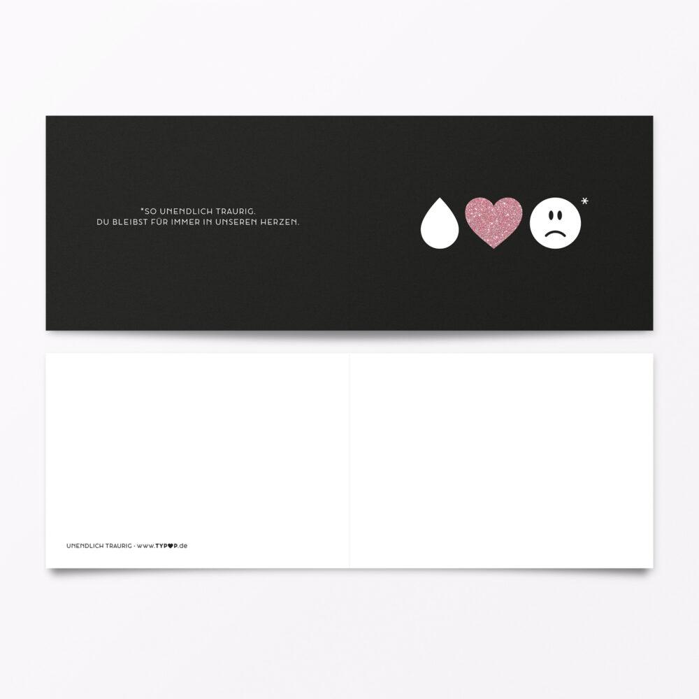 Trauerkarte Emojis Silber