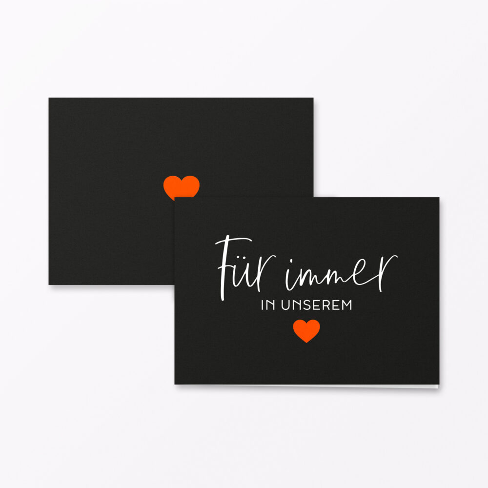 Trauerkarte Fuer Immer Orange