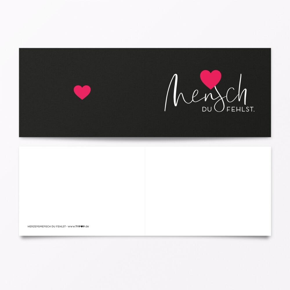 Trauerkarte Herzensmensch