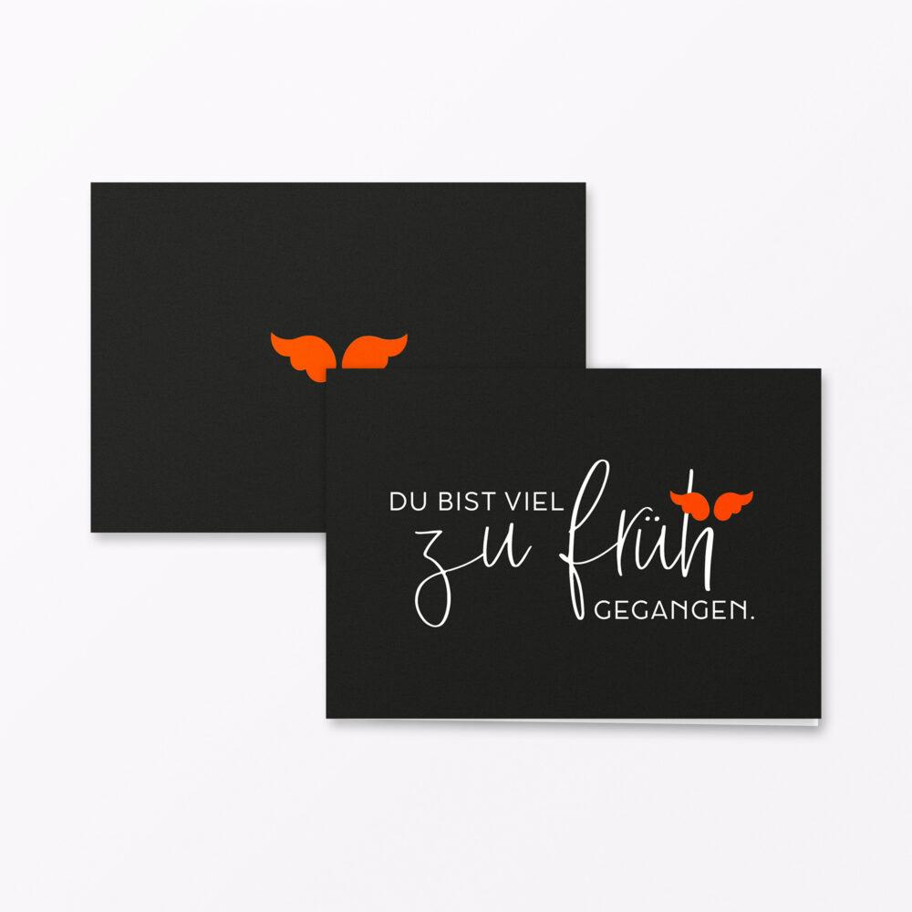 Trauerkarte Zu Frueh Orange