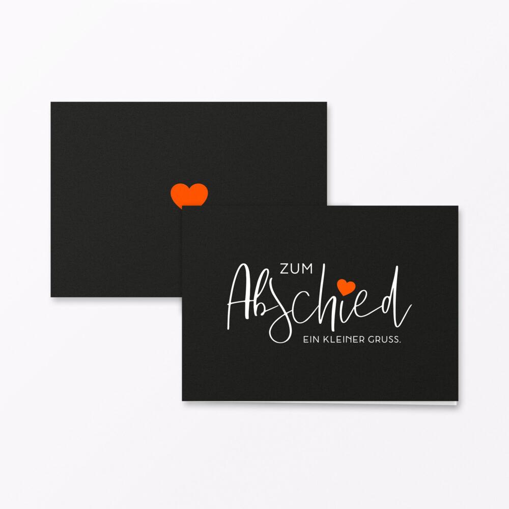 Trauerkarte Zum Abschied Orange