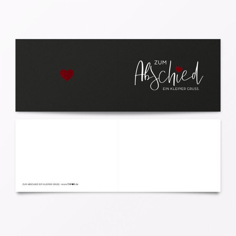 Trauerkarte Zum Abschied Rot