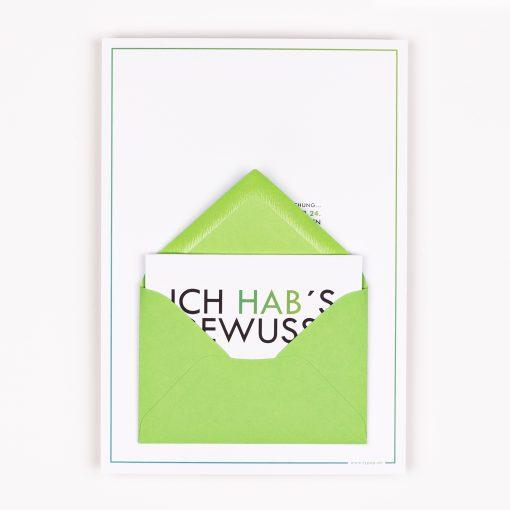ADVENTSKALENDER-KARTE Tannenbaum inkl. Miniumschlag & Minikarte