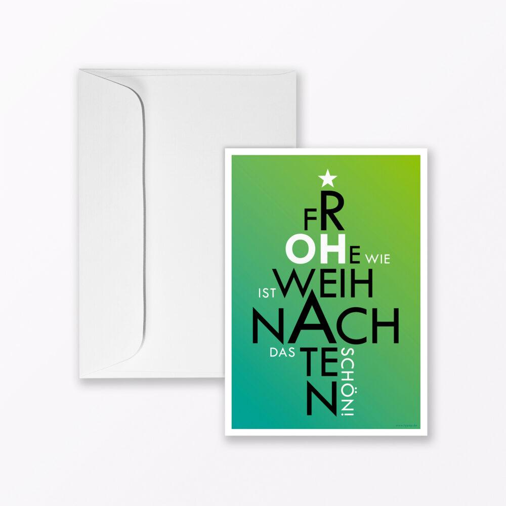 Weihnachtskarte Quot Oh Ist Es Schon Wieder Soweit Quot In Gr N A Inkl Umschlag